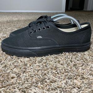 Vans All Black Authentic Skate Shoes